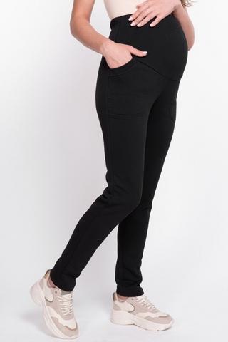 Утепленные спортивные брюки для беременных 11090 черный
