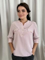 Вікторія. Жіноча блуза маленьких і великих розмірів. Пудра