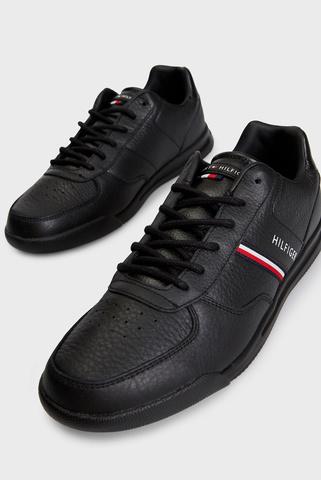 Мужские черные кожаные хайтопы Tommy Hilfiger