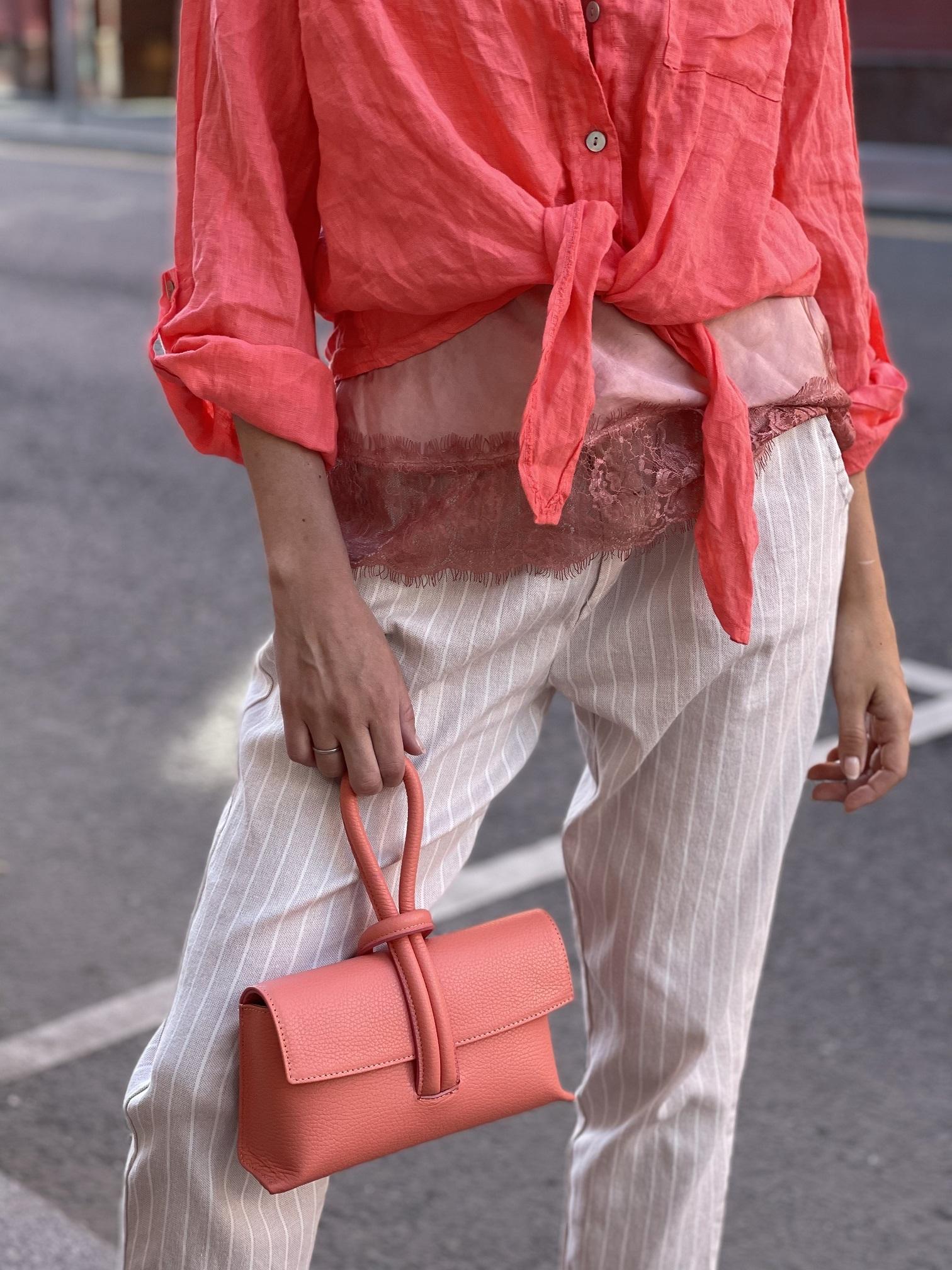Baguette bag , Ballerina, Vicolo (коралловый)