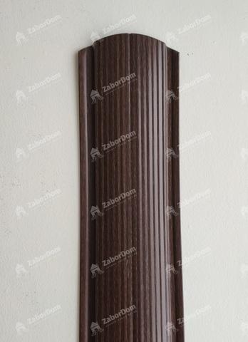 Евроштакетник металлический 110 мм Мореный дуб фигурный 0.5 мм