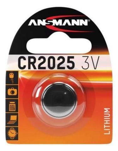 Батарейка литиевая CR2025 ANSMANN 3V