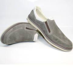 Туфли лоферы мужские IKOC 3394-3 Gray.