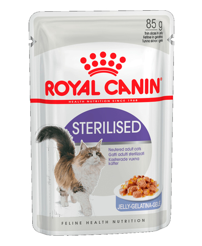 Royal Canin Sterilised пауч для стерилизованных кошек кусочки в желе (мясо) 85 г