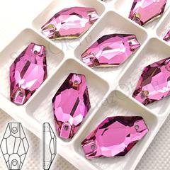 Купить пришивные стразы оптом форма Гексагон Hexagon цвет Vitrail Pink недорого