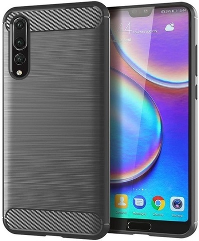 Чехол Carbon для Huawei P20 Pro серия Карбон | серый