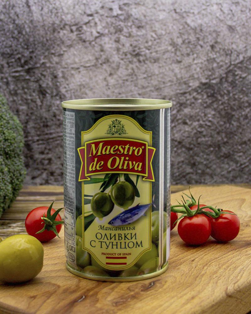 Оливки Maestro de Oliva с Тунцом 300 гр.