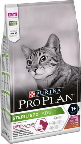 Pro Plan Сухой корм для стерилизованных кошек с высоким содержанием утки и c печенью, 3кг