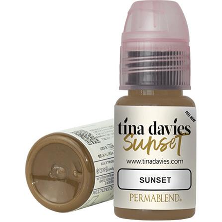 """Tina Davis Sunset"" пигмент для татуажа бровей Permablend"