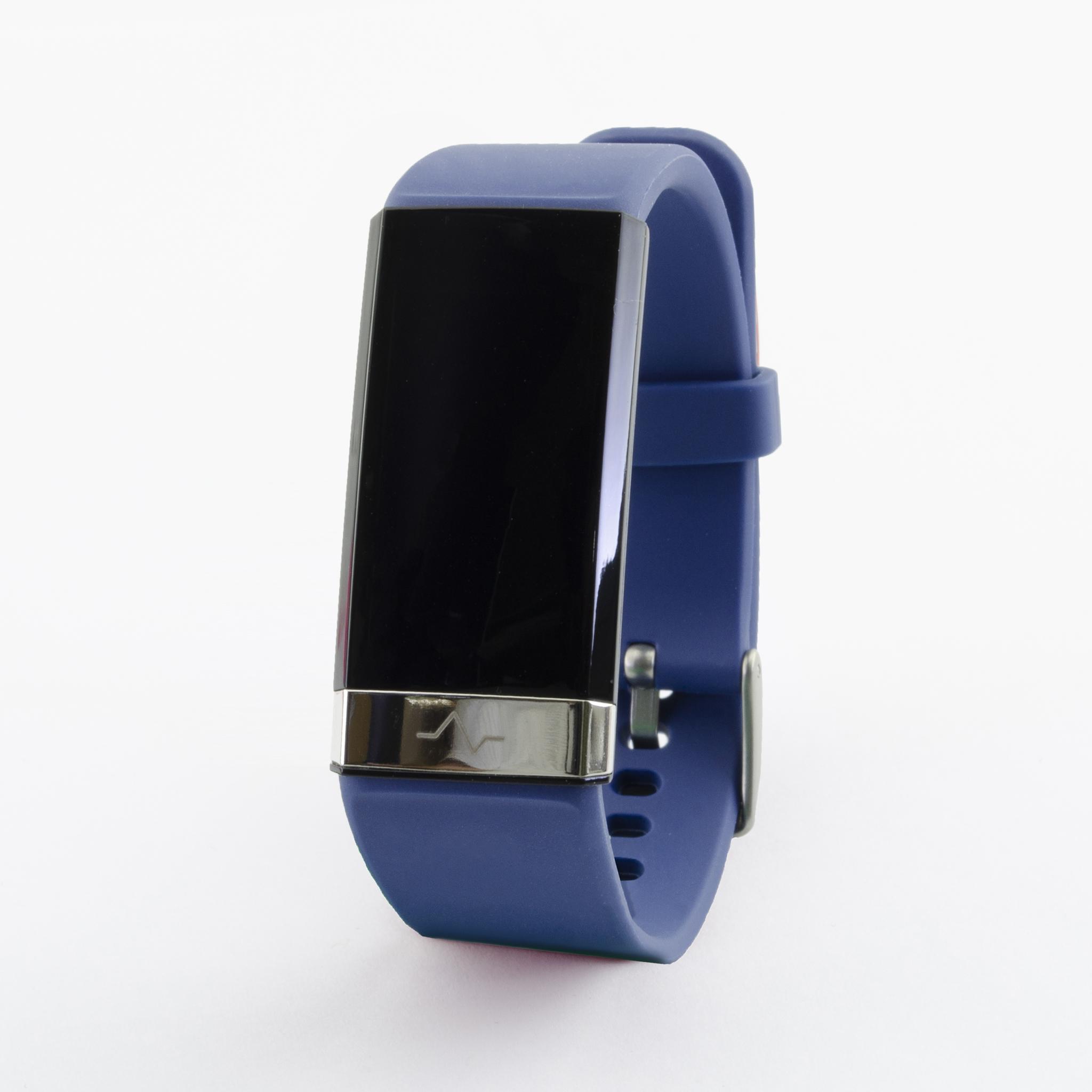 Профессиональный браслет здоровья с автоматическим измерением давления, пульса, кислорода, HRV, снятием ЭКГ и контролем аномального пульса  Biomer №19 (HB) (синий)