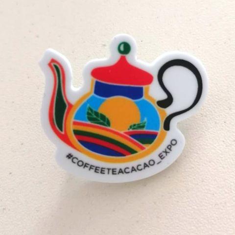 Значок Чайник (цветной)