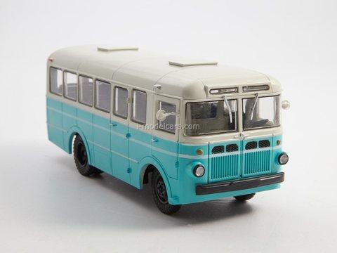 RAF-976 white-turquoise 1:43 Modimio Our Buses #22