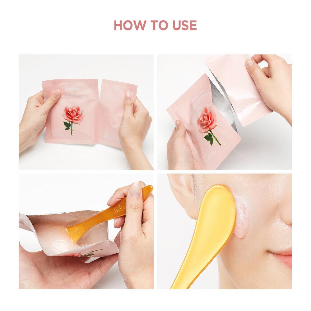 Альгинатная маска с цветочными экстрактами для гладкой и сияющей кожи FLOWER HOME ESTHETIC MODELING MASK, 5 штук
