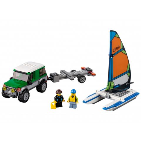 LEGO City: Внедорожник с прицепом для катамарана 60149 — 4x4 with Catamaran — Лего Сити Город