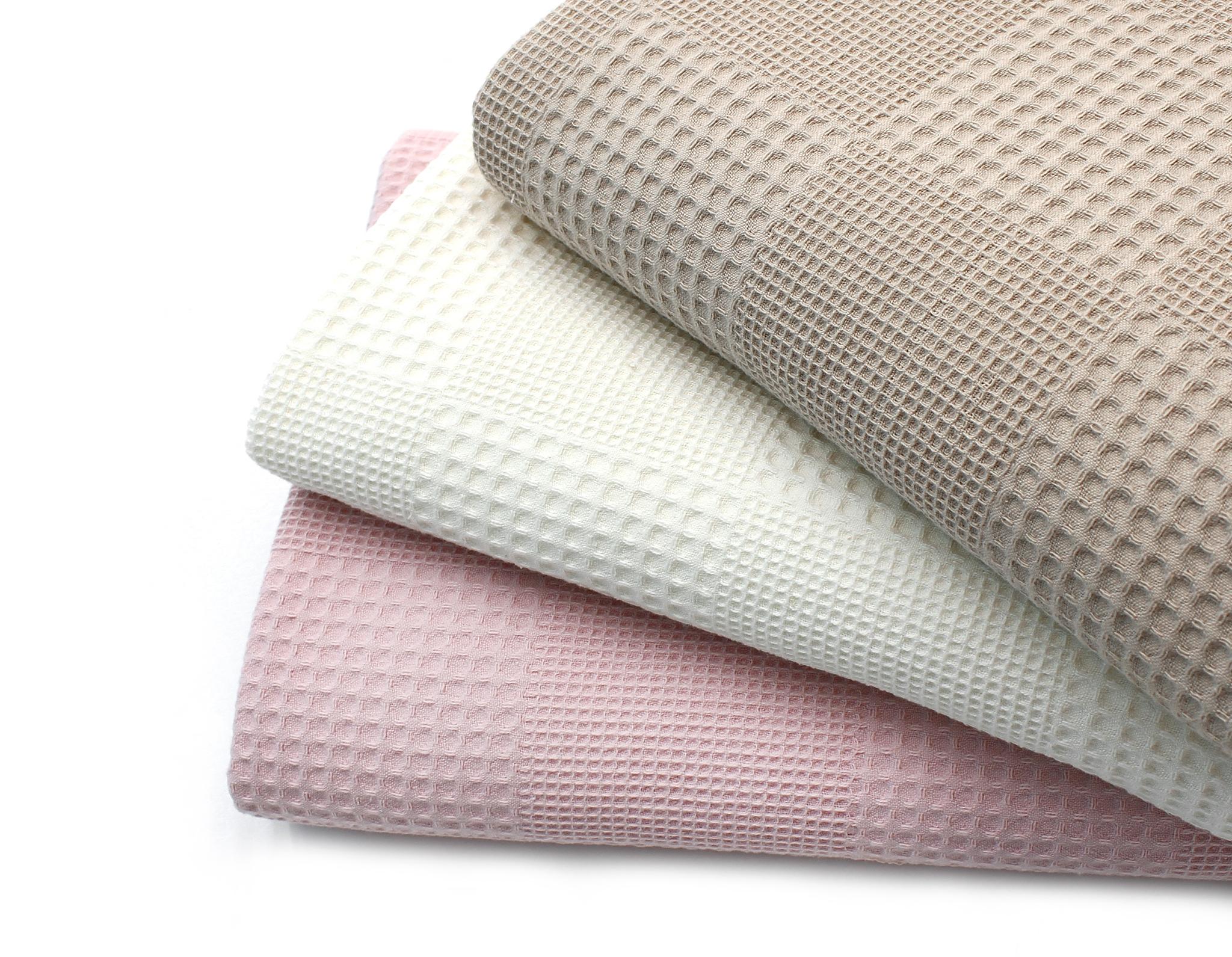 Вафельная ткань,белый теплый,Турция,222 см