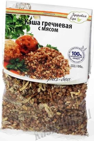Каша гречневая с мясом 'Здоровая еда', 100г