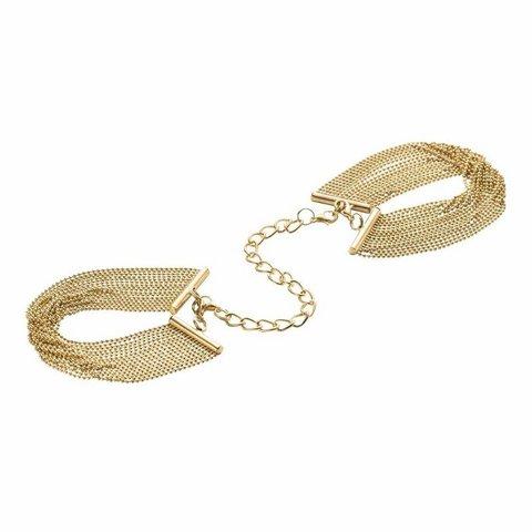 Bijoux Indiscrets MAGNIFIQUE · HANDCUFFS AND BRACELETS Цепочка с наручниками золотая