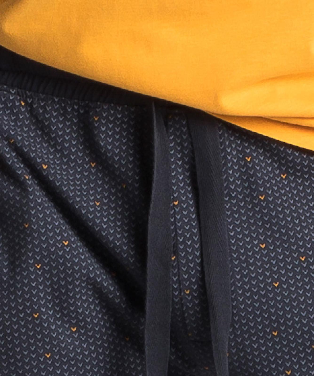 Мужская пижама Atlantic, 1 шт. в уп., хлопок, желтая, NMP-347