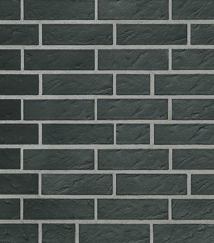 Roben - Faro, schwarz nuanciert, NF14, 240x14x71, рифленая (geschiefert) - Клинкерная плитка для фасада и внутренней отделки
