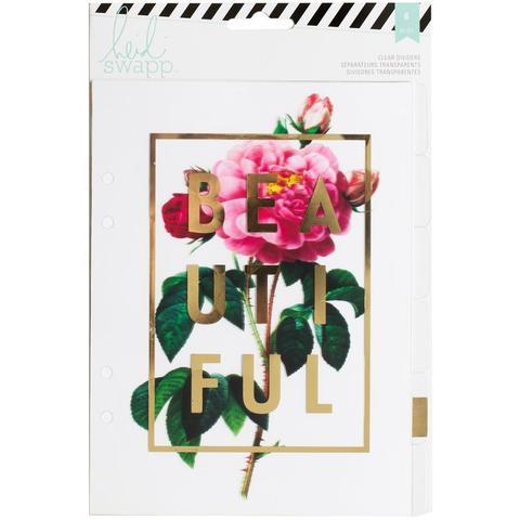 Ацетатные разделители для ежедневника Heidi Swapp Large Memory Planner Dividers  -15х20 см