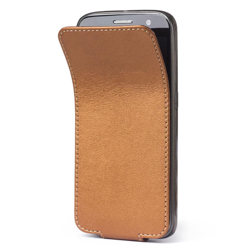 Чехол для Samsung Galaxy S6 из натуральной кожи теленка, медного цвета