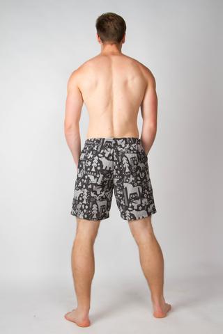 "Swim shorts ""Mystic forest"""