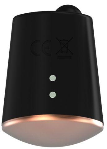 Черный клиторальный стимулятор Dazzling с вибрацией и ротацией - 6,7 см.