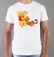 Футболка с принтом мультфильма Винни-Пух, Тигра (Winnie the Pooh) белая 0020