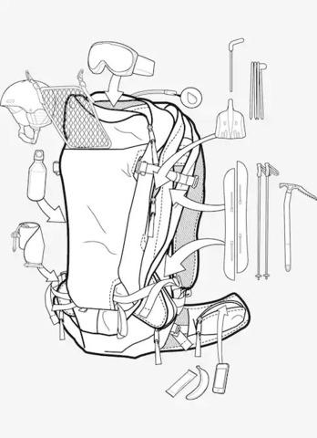 Картинка рюкзак сноубордический Burton ak incline 20l pack Flame Scarlet Rpstp - 2