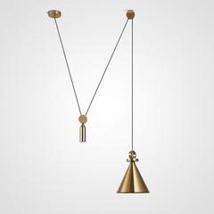 светильник Shape up Pendant Cone Brass