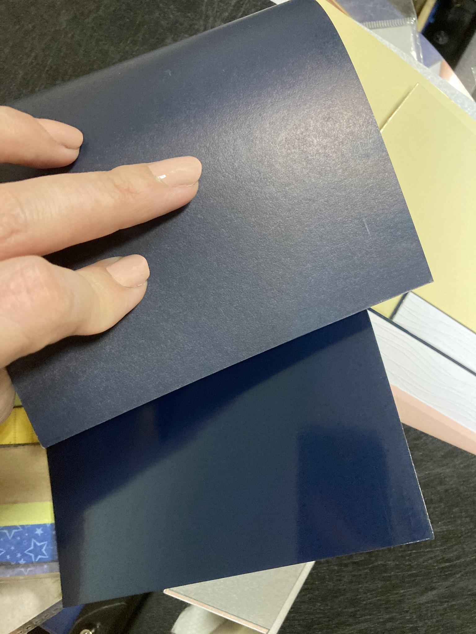 Кардсток глянцевый синий