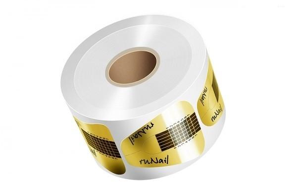 Расходные материалы ruNail, Одноразовые формы золото, 100 шт runail-odnorazzovye-formy-shirokie-zolotye-500-sht.jpg
