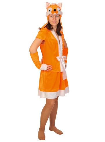Карнавальный костюм взрослый Лиса плюш