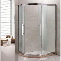 Душевое ограждение Grossman PR-120SR серебро, 120х80 R, с раздвижными дверьми, ассиметричное