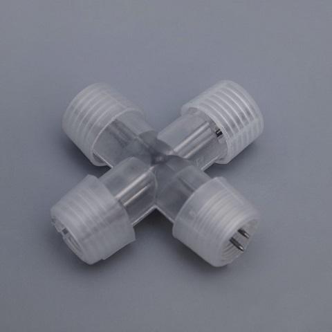 Коннектор соединительный для 2-х проводного дюралайта Ø 13 мм Х-образный.