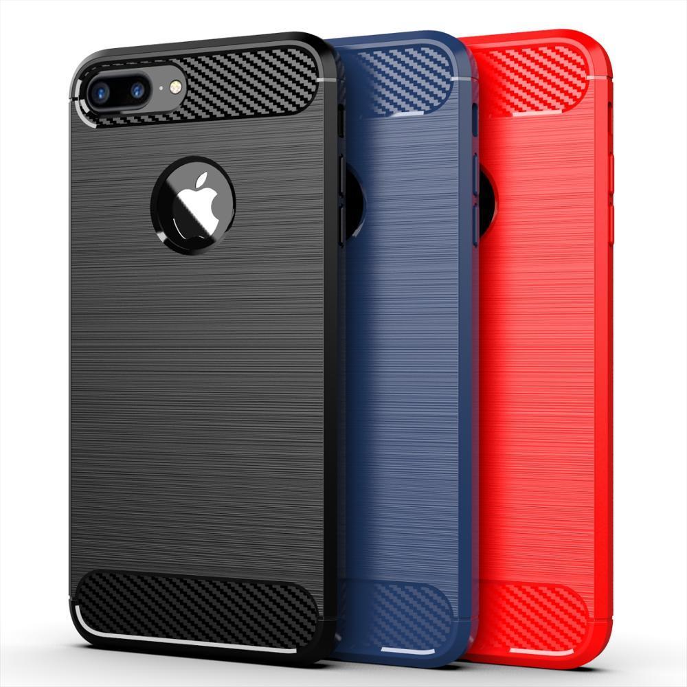 Чехол для iPhone 7 Plus цвет Red (красный), серия Carbon от Caseport