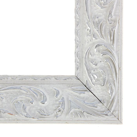 Рама для зеркал и картин 40х60х4 см, цвет бело-серебристый