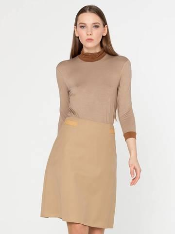 Фото теплая повседневная юбка-трапеция на молнии - Юбка Б068-309 (1)
