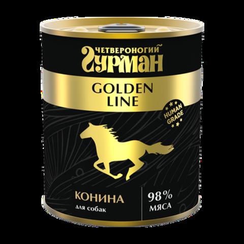 Четвероногий Гурман Golden Консервы для собак с натуральной кониной в желе (Банка)