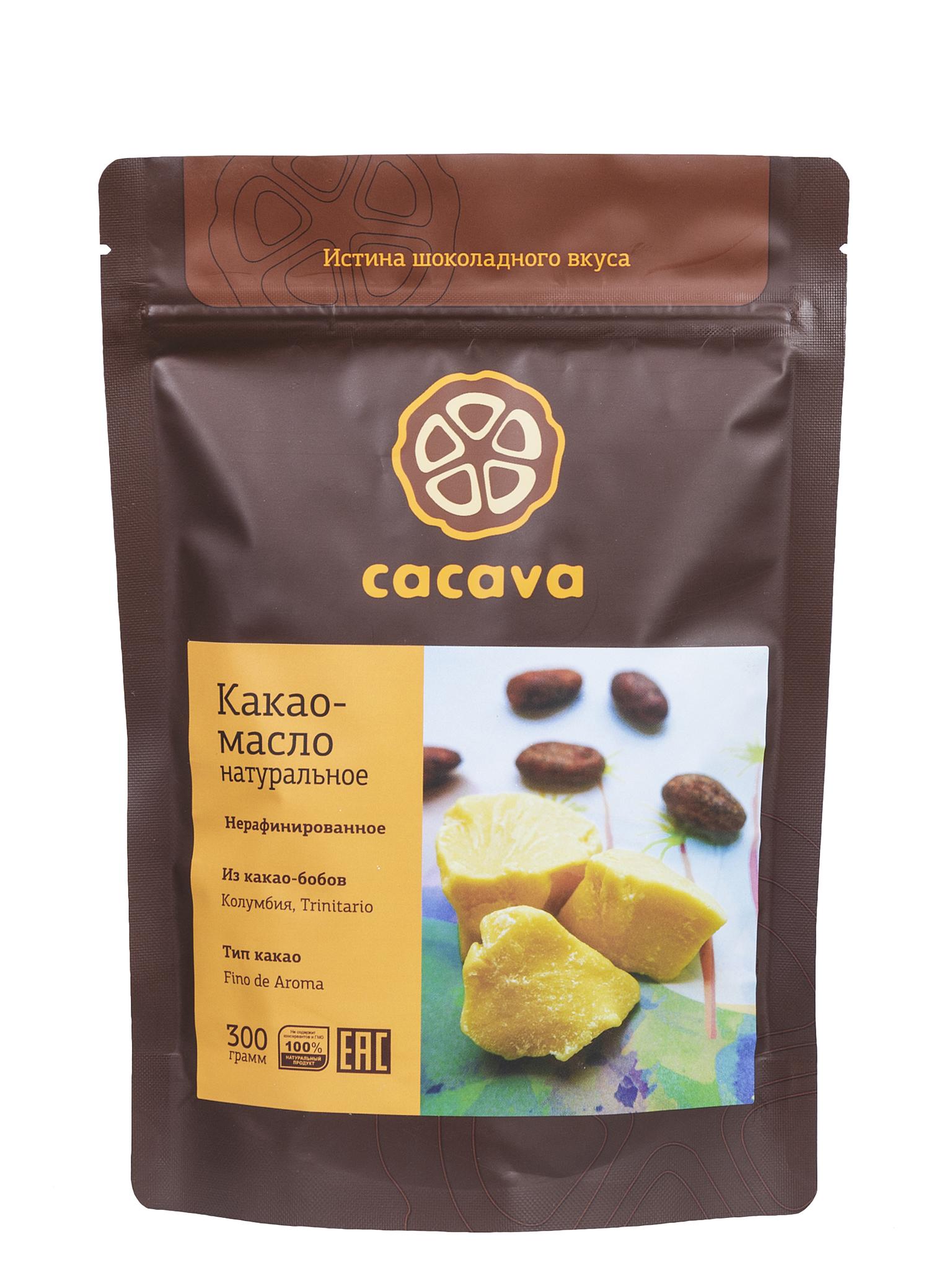Какао-масло нерафинированное (Колумбия), упаковка 300 г