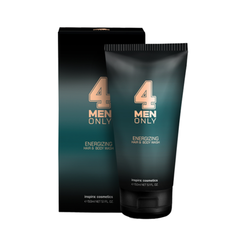 INSPIRA Тонизирующий очищающий гель для волос и тела 4 Men Only | Energizing Hair & Body Wash