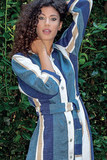 Длинный льняной халат на пуговицах B&B