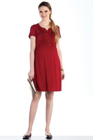 Платье для беременных 07589 красный