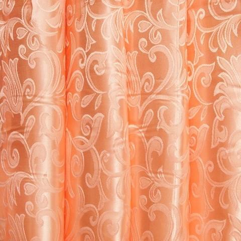 Портьерная ткань 150 см 29 цвет персик вензель