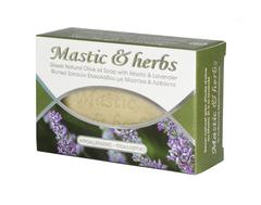 Натуральное мыло с оливковым маслом, мастикой и лавандой MASTIC & HERBS 125 гр