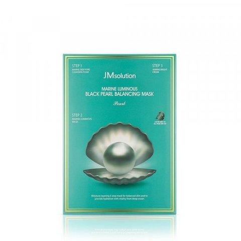 JMsolution Трехступенчатая маска с жемчугом для сияния Marine Luminous Black Pearl Balancing Mask, 1 шт