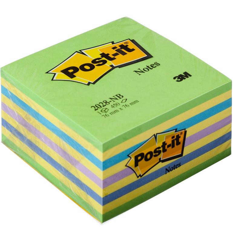 Стикеры Post-it Original 76x76 мм неоновые 5 цветов (1 блок, 450 листов)