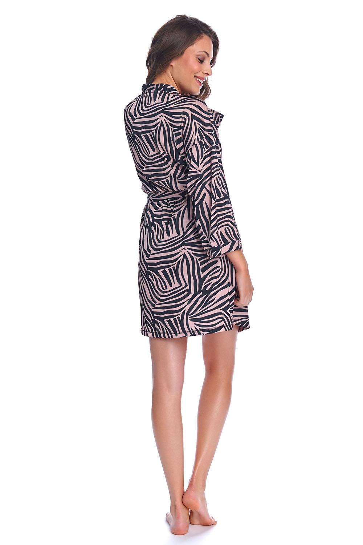 Халат из атласного полотна с принтом «зебра»