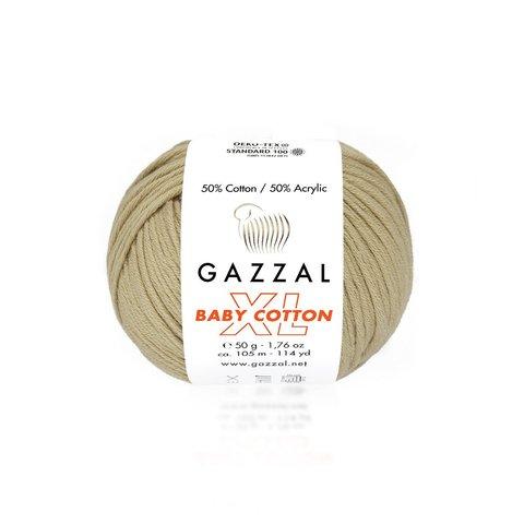 Пряжа Gazzal Baby Cotton XL 3424 беж