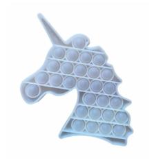 Поп Ит Игрушка антистресс Вечная пупырка Попит 21 х 12 см прозрачный единорог POP IT